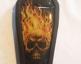 Skull coffin butane lighter