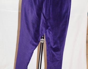 Vintage Velvet 'Podium' Purple flared trousers - UK Size 8 EU 38