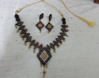 Crafted Terracotta Clay Necklace Set