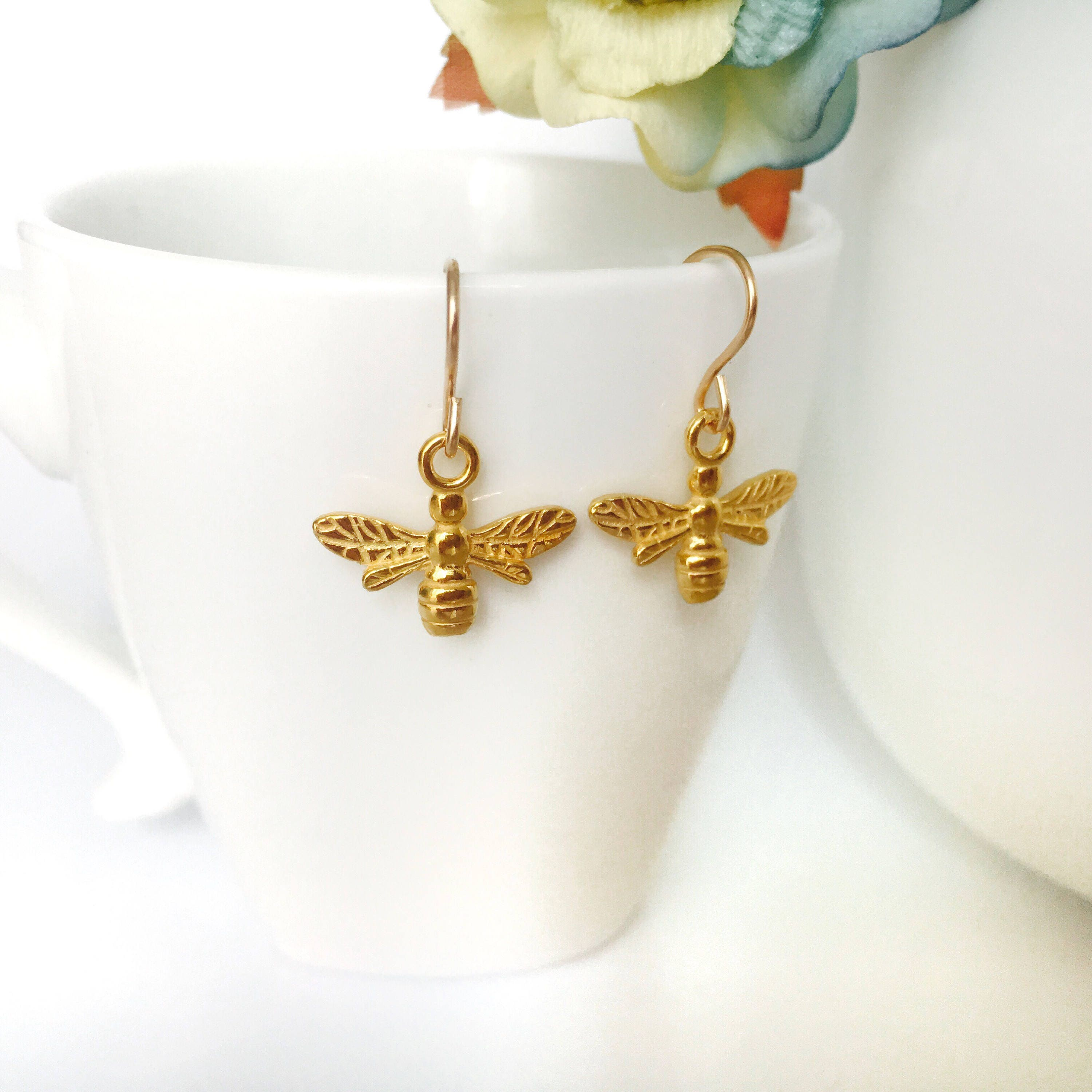 Gold Bee Jewellery Gift Set Nature Collection