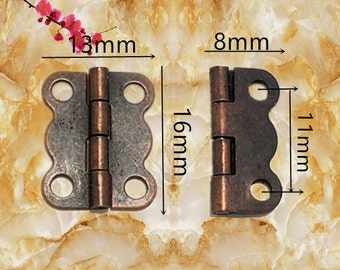 Items similar to 10 pcs 25MMx23MM Jewelry Box hinges gift box Hinges