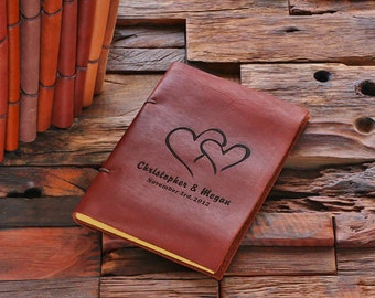 Personalized Monogrammed Leather Engraved  Recipe Cookbook Notebook (024205)