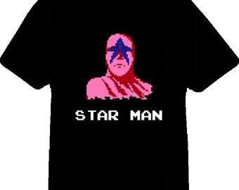 Star Man Pro Wrestling Nes T Shirt
