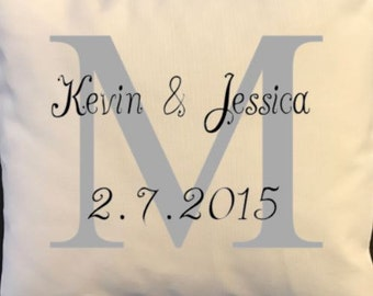 Wedding anniversary throw pillow, cutomized pillow, wedding, engagement, anniversary gift