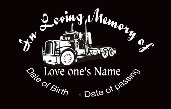 In loving memory car decal semi custom memory auto decal from inspirationaldecals on etsy studio