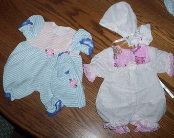 """A.G. Bitty Baby 16"""" DOLL Short Sleeper Set .. Also Fits PREEMIE'S"""