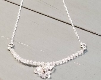 Sterling Silver Crystal Quartz Necklace / Crystal Quartz Necklace / Crystal Quartz Jewelry / Quartz Necklace / Quartz Jewelry