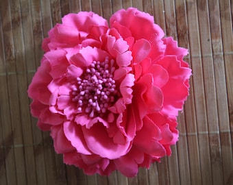 Pink Flower clip and pin
