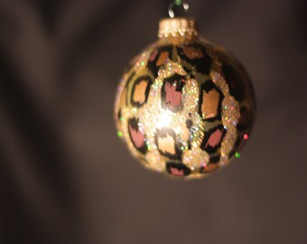Leopard Print Ornament