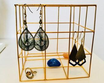 Geometric jewelry organizer -large