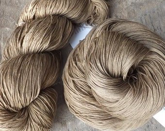 Naturally Dyed with Walnut Silk Heavy Lace Yarn - 2015