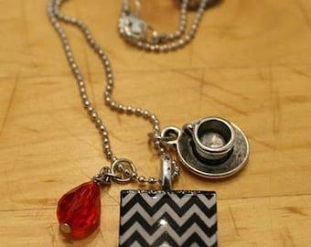 Minimalist Twin Peaks Charm Necklace