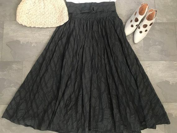 Vintage high waisted skirt | army | Dieter Gerhard | green skirt | very wide skirt | circle skirt | midi | nineties