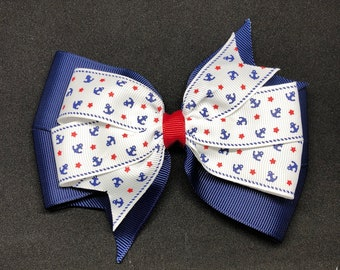 """5.5"""" Navy Blue with Anchors"""