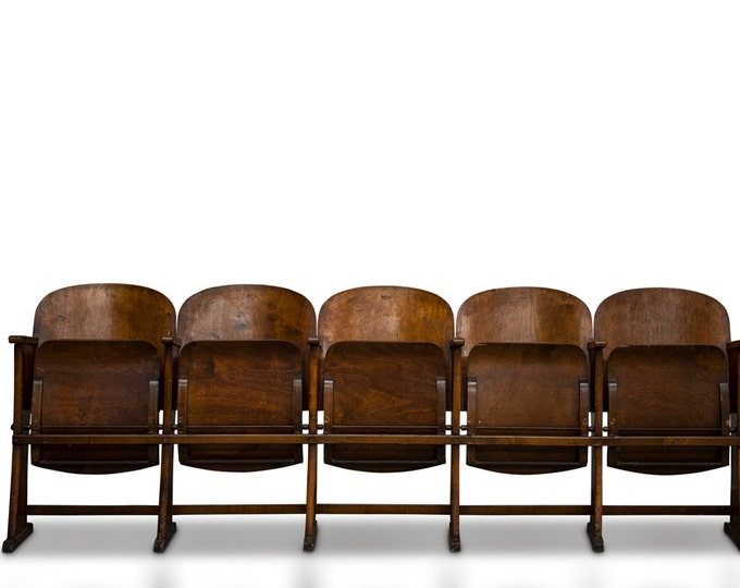 Wooden Folding Cinema Seat -s 5 Seat