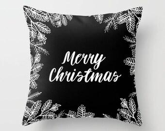 Christmas Pillow, Christmas Cushions, Typography, Merry Christmas pillow, text pillow, Xmas cushions, Xmas Pillow, Christmas decor