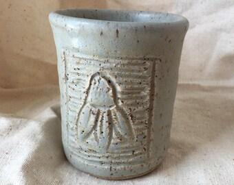 Matted seaglass coneflower mug