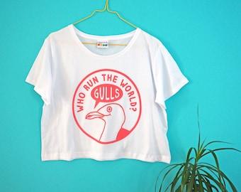 Beyonce Crop Top, Beyonce T-shirt, Funny Seagull Tee, Women's Cropped T-shirt, Cute Cropped Top, Pink Crop Tee, Bird T-shirt, Screenprinted