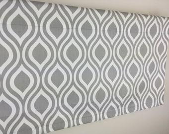 SALE! -  Grey Valance - Gray Valance - Window Treatment - 50 x 16 Window Valance - Kitchen Valance - Valance Panel - Window Curtain - Curtai