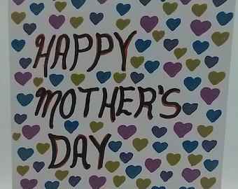 Greeting Card. Happy Mother's Day. Mother's Day Card.