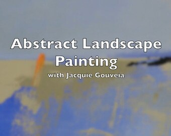 Best Selling Items, VIDEO Tutorial Abstract Landscape Painting, Painting Lesson, Top Selling Item Learn to Paint, How to Paint, Step by Step