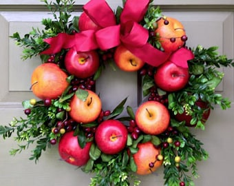 Apple & Boxwood Wreath