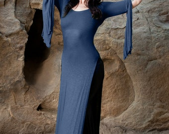 RESTOCKED: The Navy Blue Panel Dress by Opal MoonDesigns (Sizes XS-3XL) Plus Size Available
