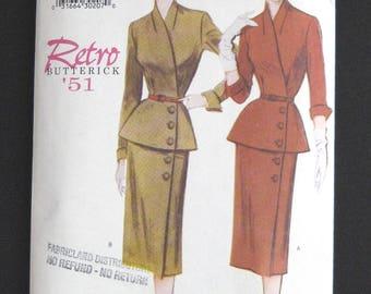 BUTTERICK 6241 Retro 51 reissued vintage pattern FF uncut pattern size 14 to 18