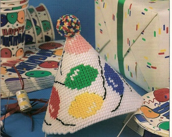 Birthday Party Hat Plastic Canvas Pattern