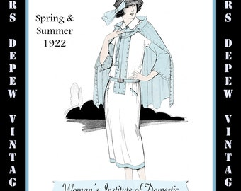 Vintage sewing book 1920s ribbon art ebook how to for rosettes vintage sewing book spring summer 1922 fashion service magazine dressmaking ebook with flapper fashions instant download fandeluxe Gallery