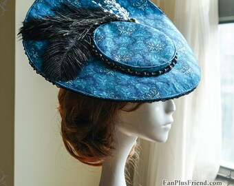 Classic Vintage Elegant Handmade Retro Cartwheel Original print Hat