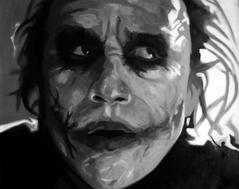 Heath Ledger Fine Art Print (The Joker - Batman - The Dark Knight - Christopher Nolan - Comic Book - DC - Portrait - Icons)
