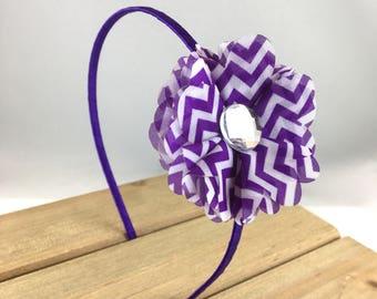 Purple Chevron Hard Headband, Hard Purple Headband, purple chevron Headband, Purple Adult Headband, Headbands for girls