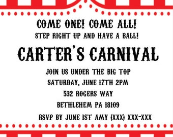 Carnival Themed Party Invitation (Digital)