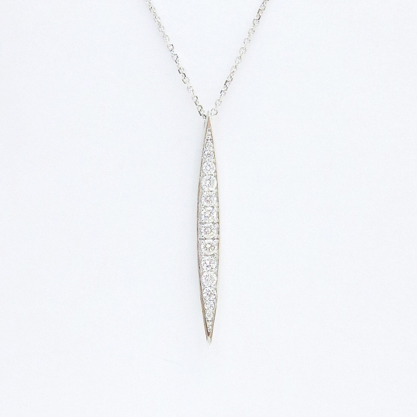 ef diamond pendant collection bar gold rose vertical necklace product