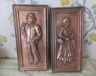French copper Wall Plaques