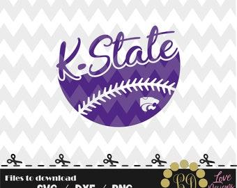 Kansas State Ball svg,png,dxf,cricut,silhouette,jersey,shirt,proud svg,birthday,invitation,sports,cutting,baseball,softball,wildcats,k state
