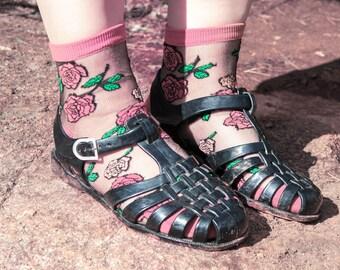 Rose aus Malibu Sheer transparente Socken