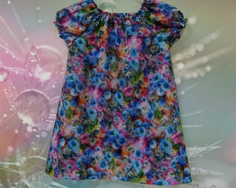 Girls floral Peasant dress Size 2-3