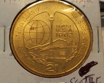 1962 Seattle World's Fair One Dollar Medal