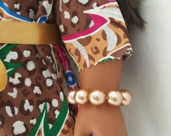 "18"" doll bracelet, 18 inch doll bracelet, American made doll bracelet, doll bead bracelet"