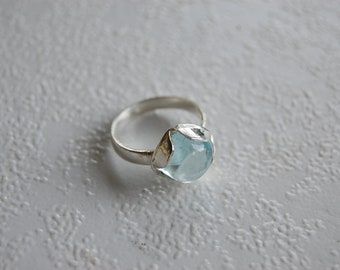Silver Aquamarine Ring, Silver Eye clean Transparent Aquamarine ring, aquamarine jewelry, jewelry, silver rings with gems, silver jewelry