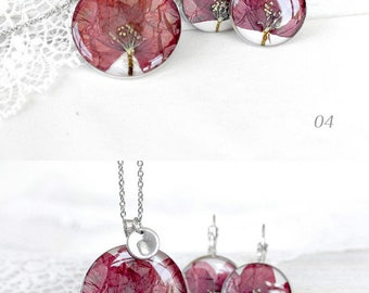 Poppy necklace personalized gift|for|her Personalized jewelry set gift necklace Initial jewelry for women Bride gift for mom Poppy jewelry