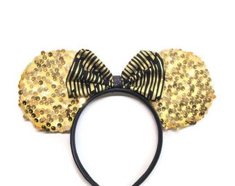 Gold Sequined Mouse Ears