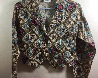Cowgirl Shirt, Cowgirl Blouse, Vintage Prairie, Western Shirt, Handmade Vintage, Small Vintage Blouse, Western Blouse, Vintage Western