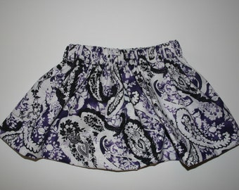 Purple and Black Paisley - 2T