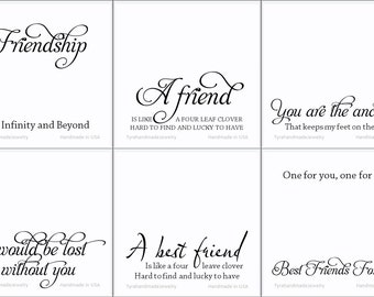 Greeting card,Custom Jewelry Card insert,custom note card,custom message card,friendship,family