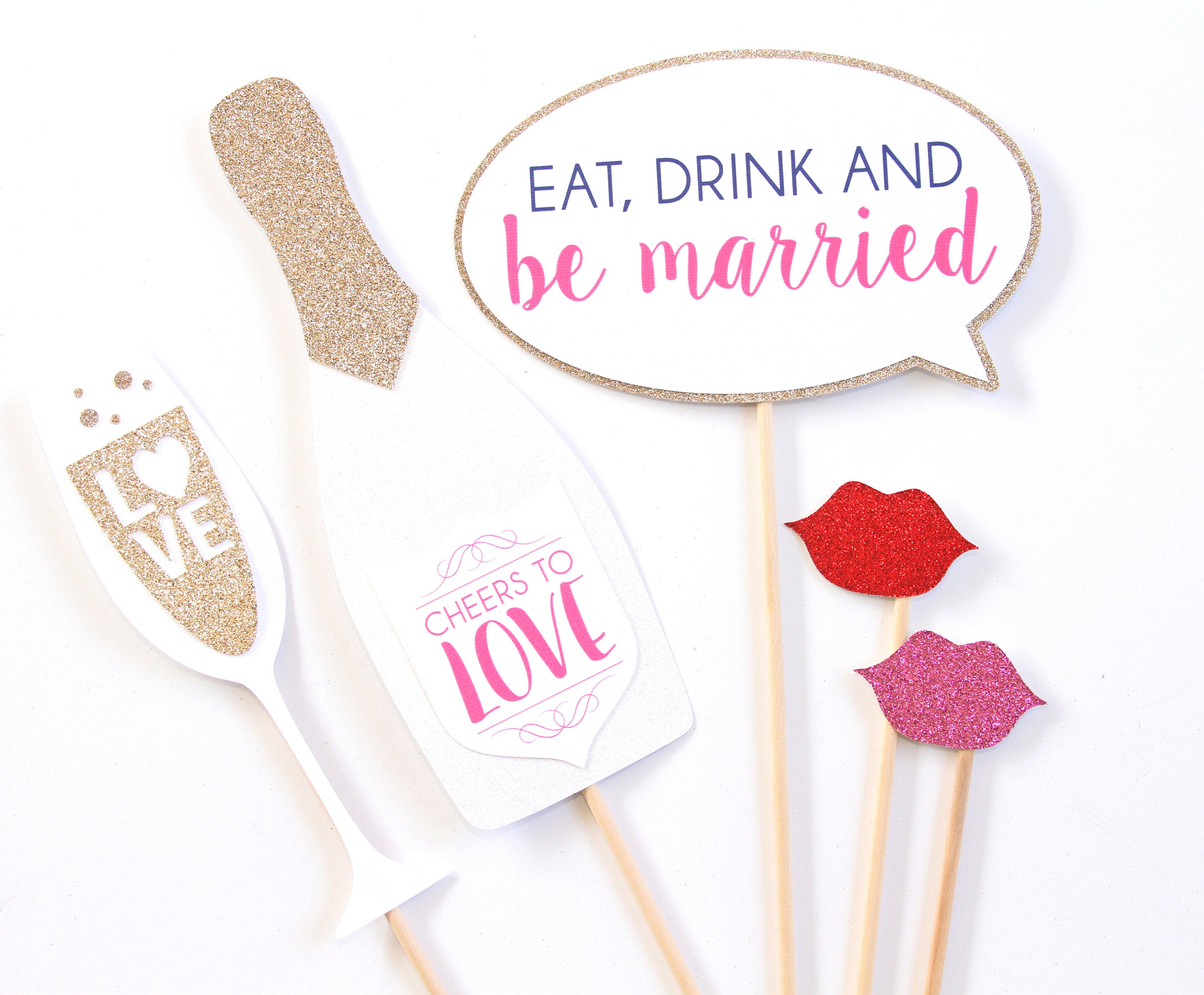 5 Props Eat Drink and Be Married Add-On Set: