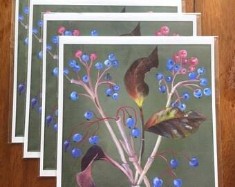 Beautiful Fine Art Berry Floral Garden Print - Gift - Wedding - Shower - Housewarming - Birthday - Kratzer Art Gallery