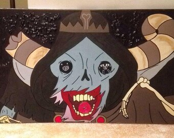 """Adventure Time """"The Lich"""" Painting by Teesh F"""